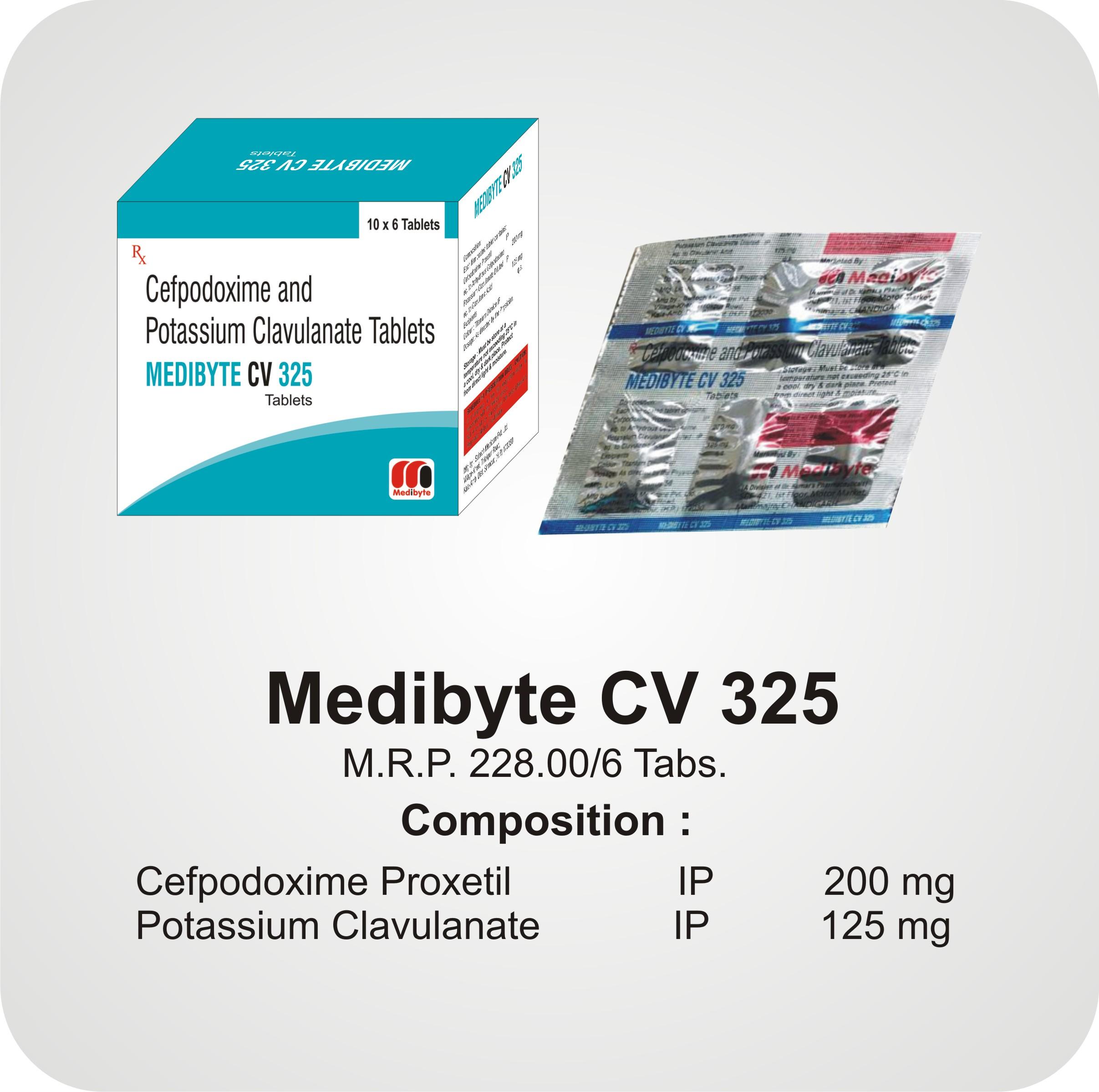 Medibyte CV 325 Tabs
